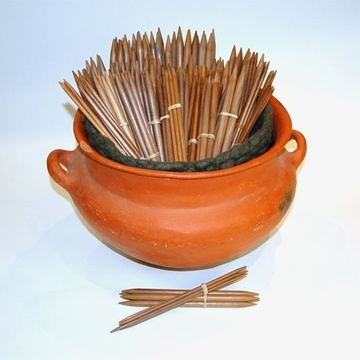 Walnut double pointed needles