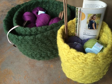 ELLENESQUE FELTED BOWL KNITTING PATTERN