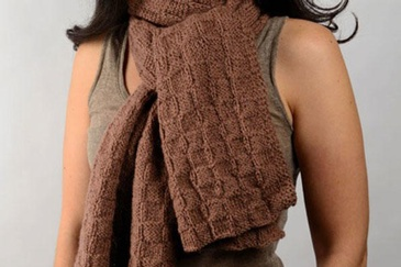 RANA CHECKERED SCARF AND WRAP KNITTING PATTERN