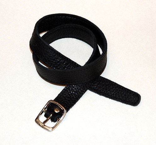 Ebony with silver buckle