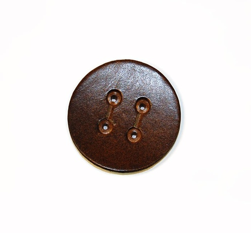 Aviator Leather Button