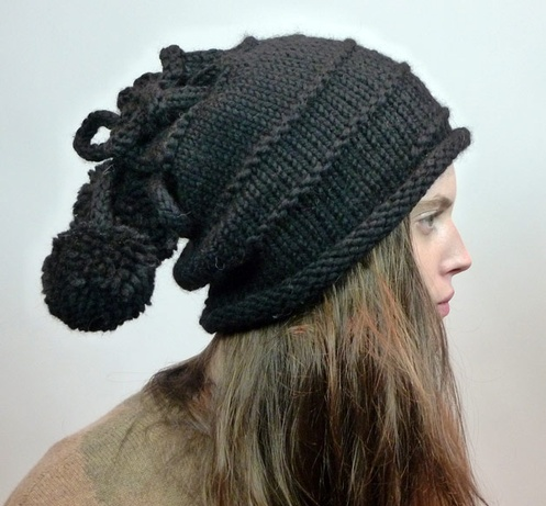 Oak Drawstring Hat and Cowl