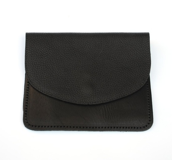 Ebony with Silver Zipper