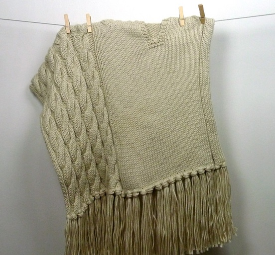Edie Cabled Poncho